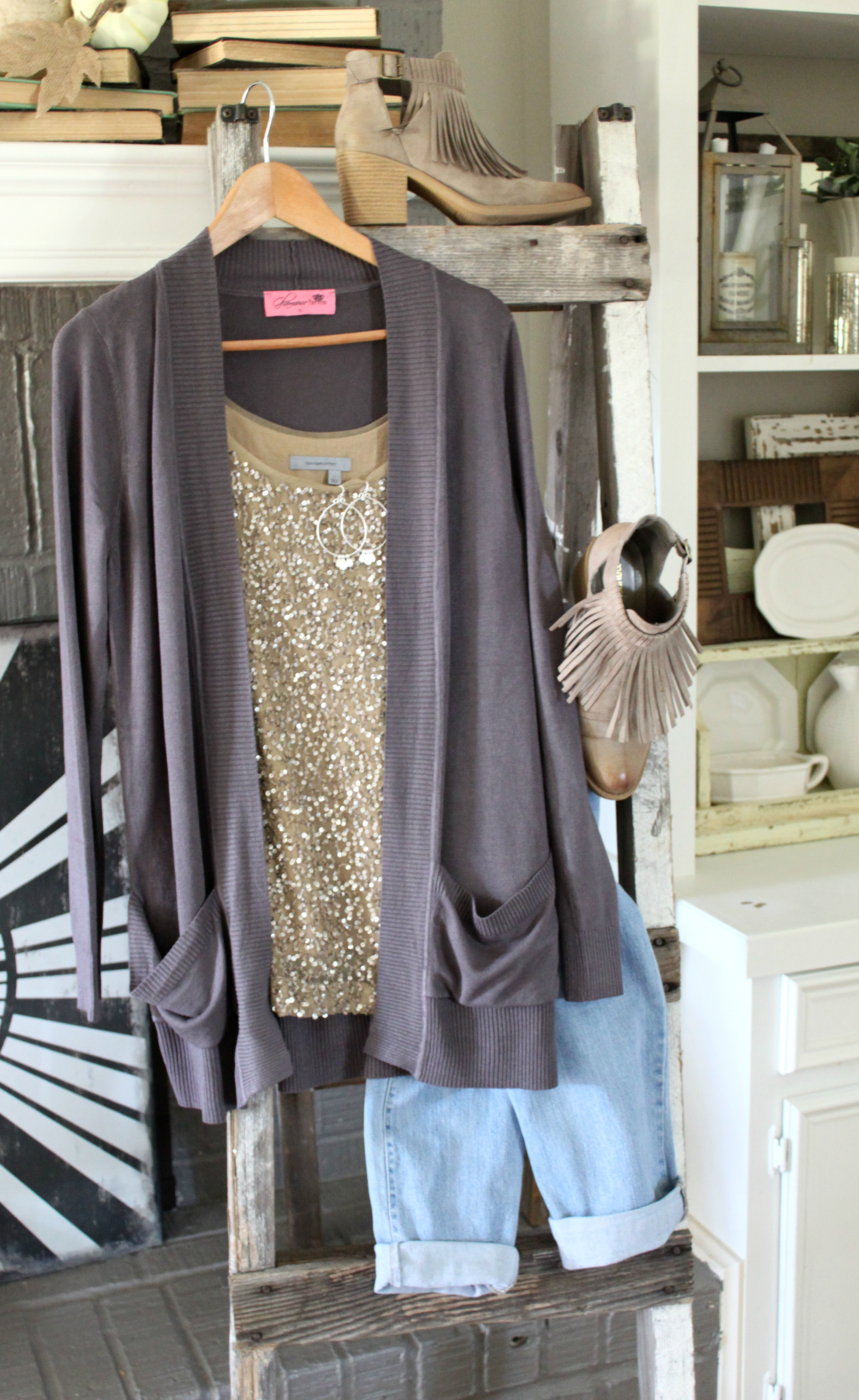 cardigan-style-booties-jeans-sparkle
