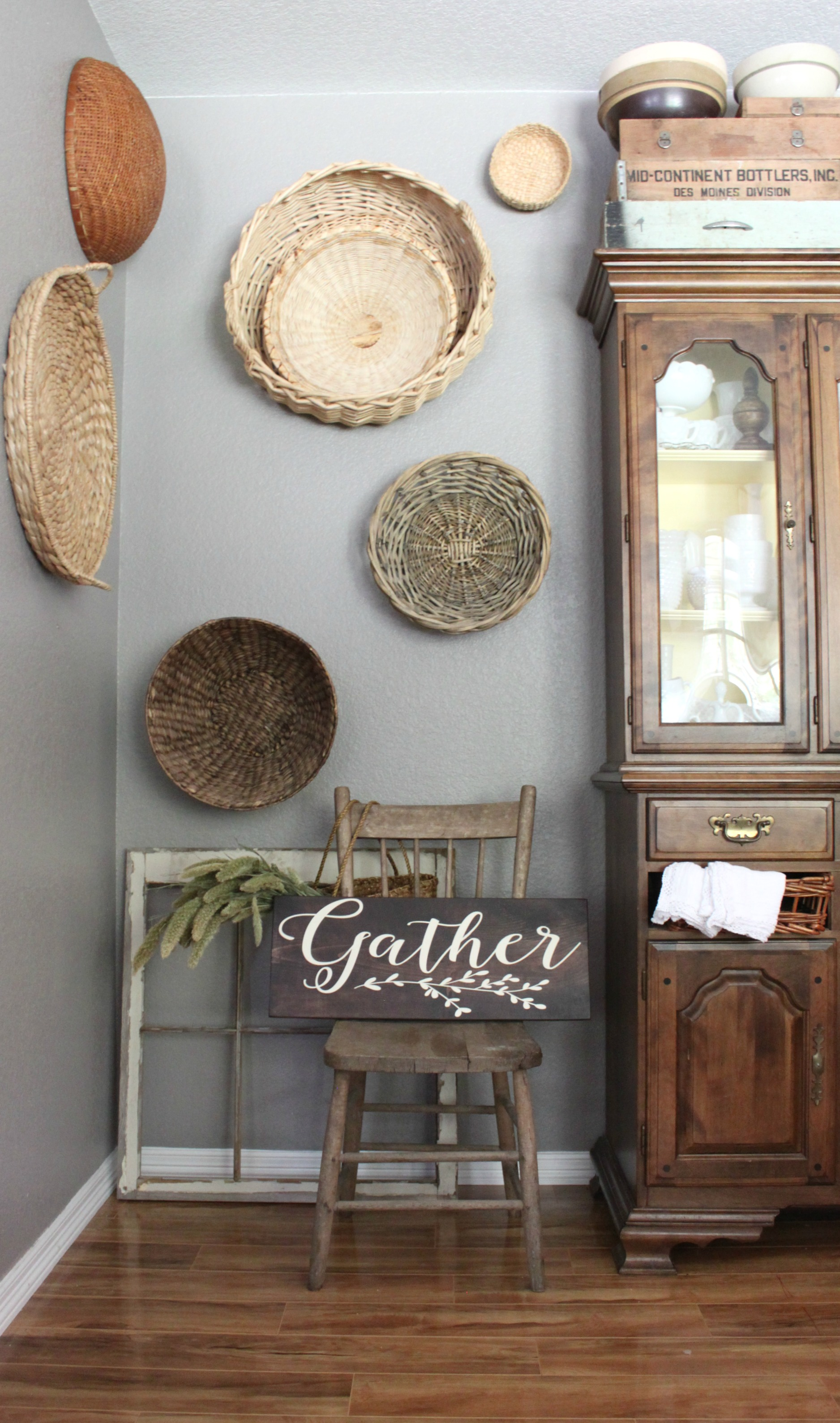 fall-dining-room-basket-wall-gather-wood-sign-handmade