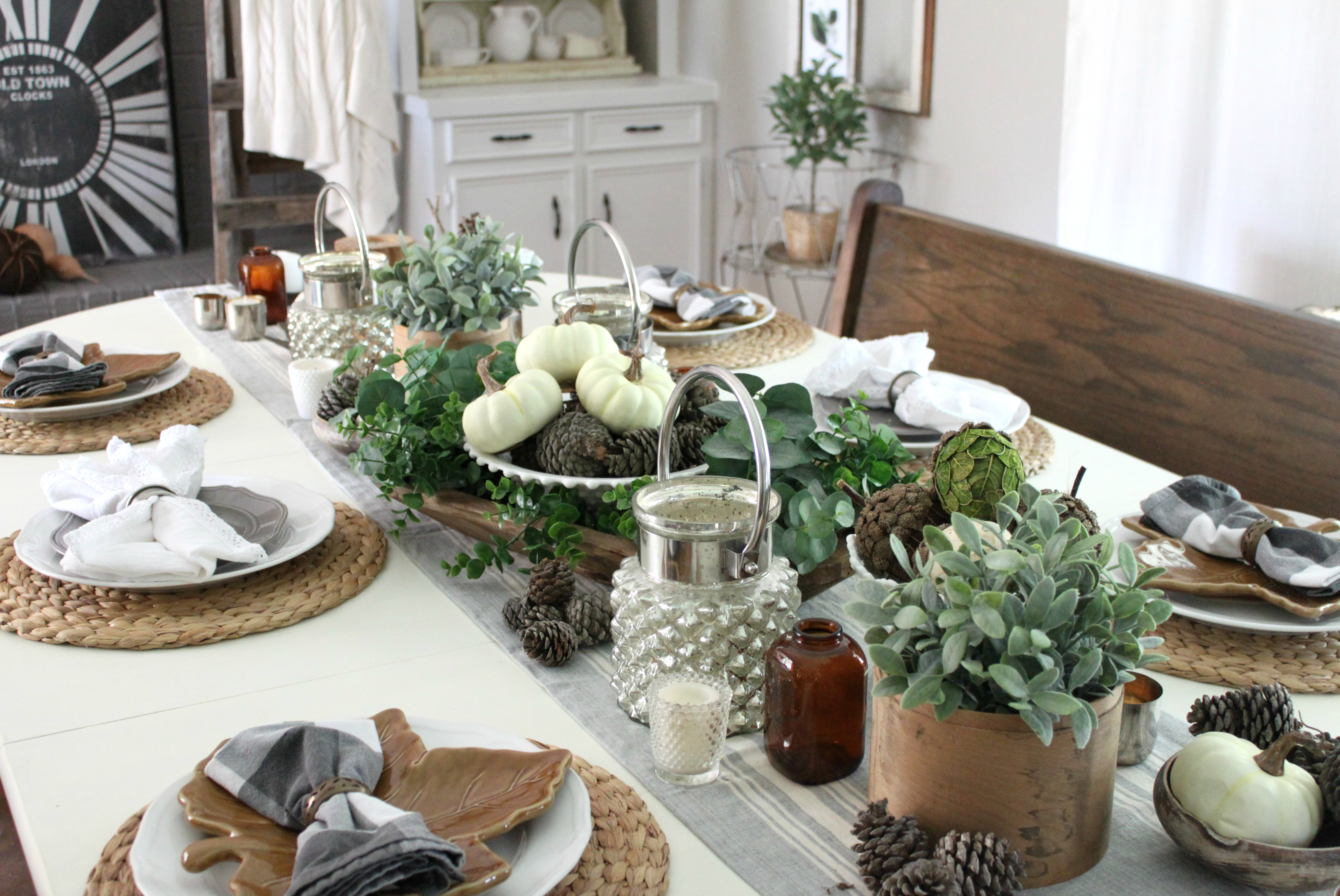 Fall Dining Room Tablescape Place Setting