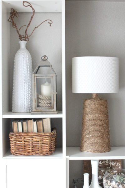 How to Make a Rustic Rope Wrapped Lamp Base
