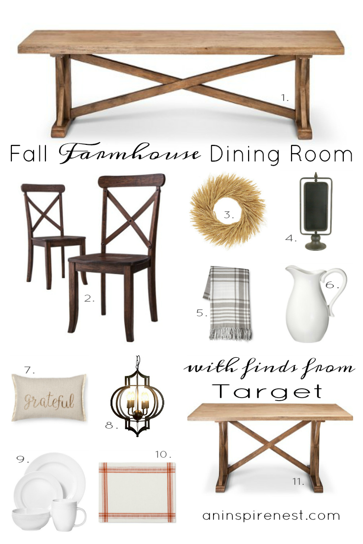 Fall Farmhouse Dining Room with Finds from Target by An Inspired Nest