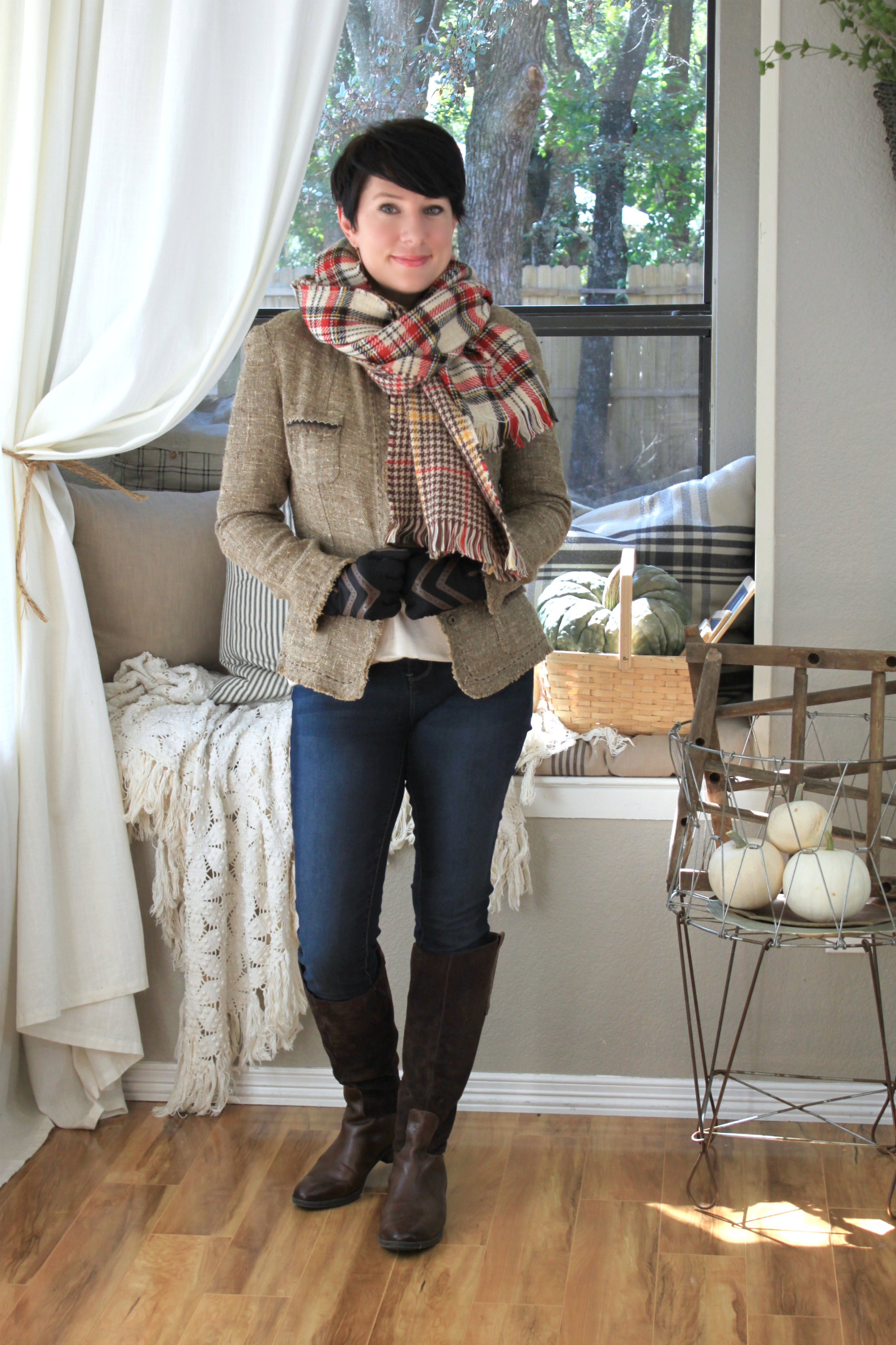 Sunday Style: One Blanket Scarf Styled Five Ways by An Inspired Nest