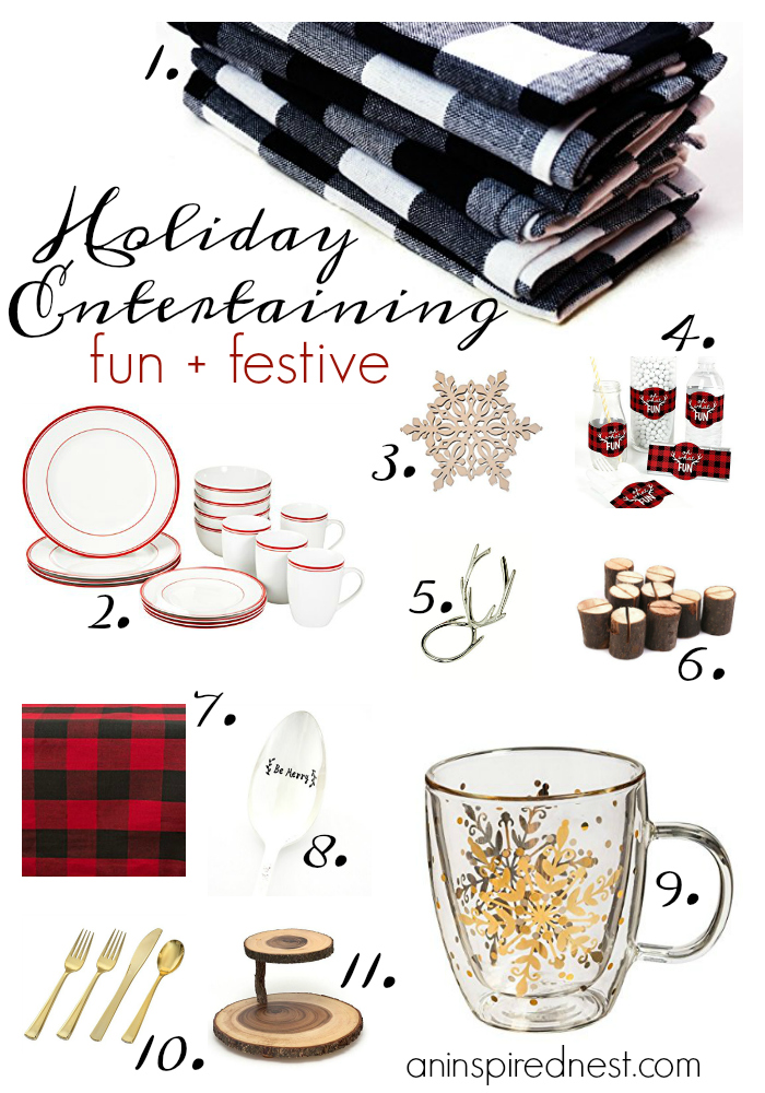 Fun + Festive Holiday Entertaining Shopping Guide | by An Inspired Nest