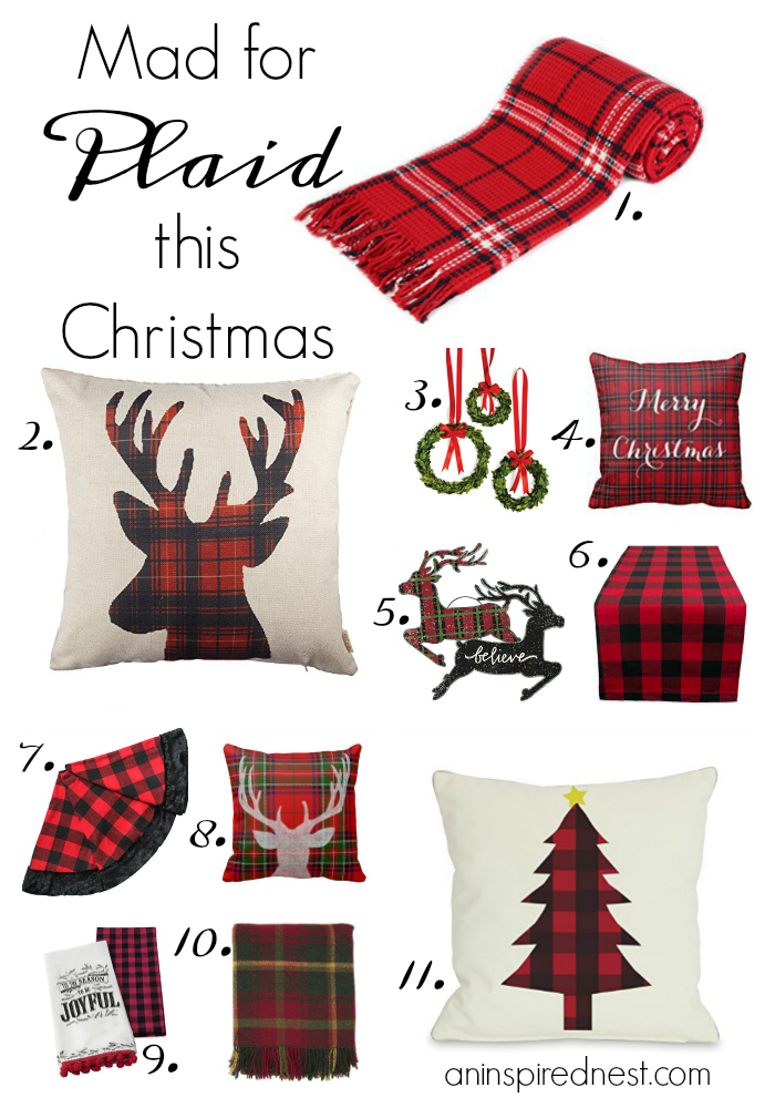 Mad for Plaid this Christmas by An Inspired Nest