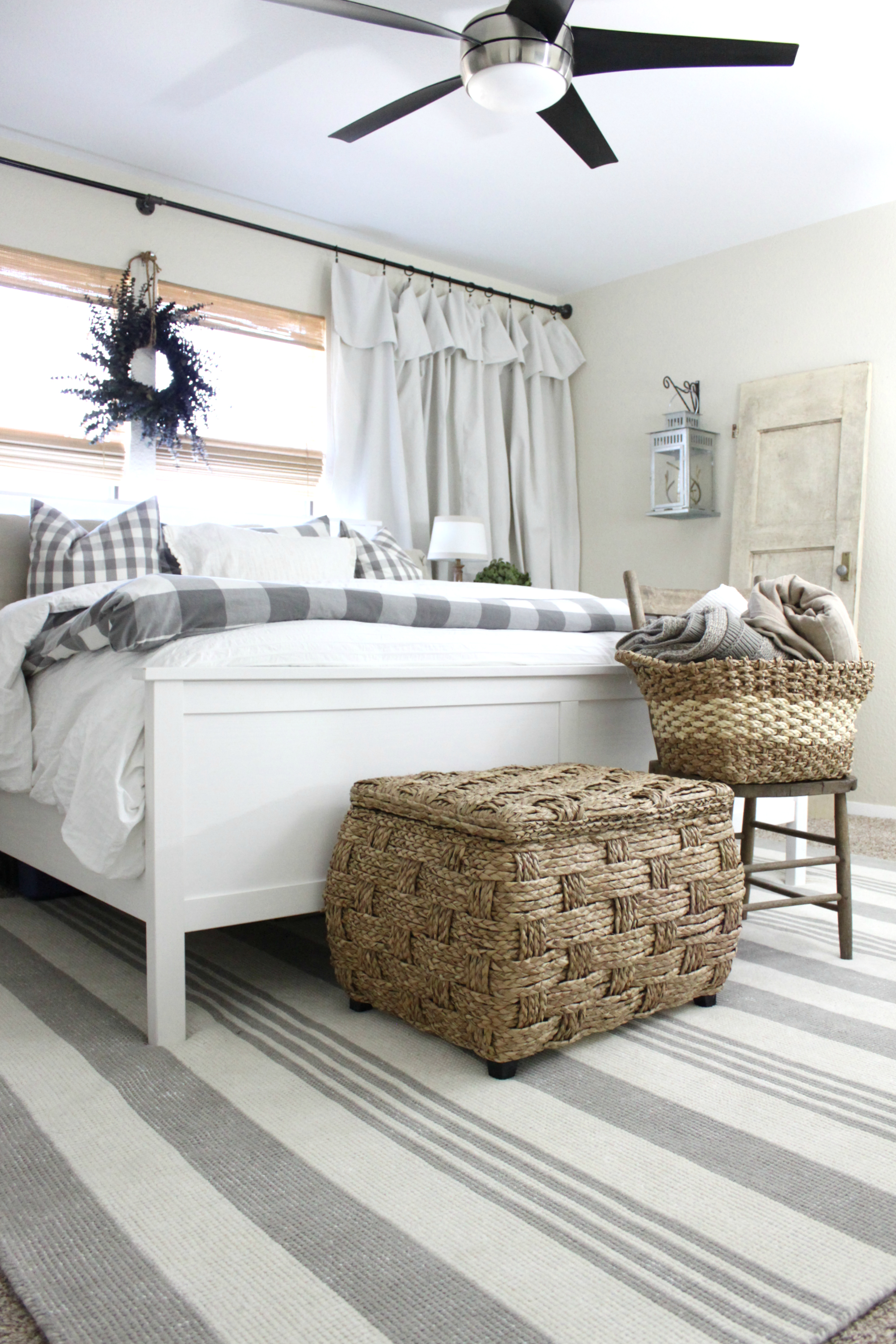 Master bedroom rug makeover an inspired nest for Bedroom rugs