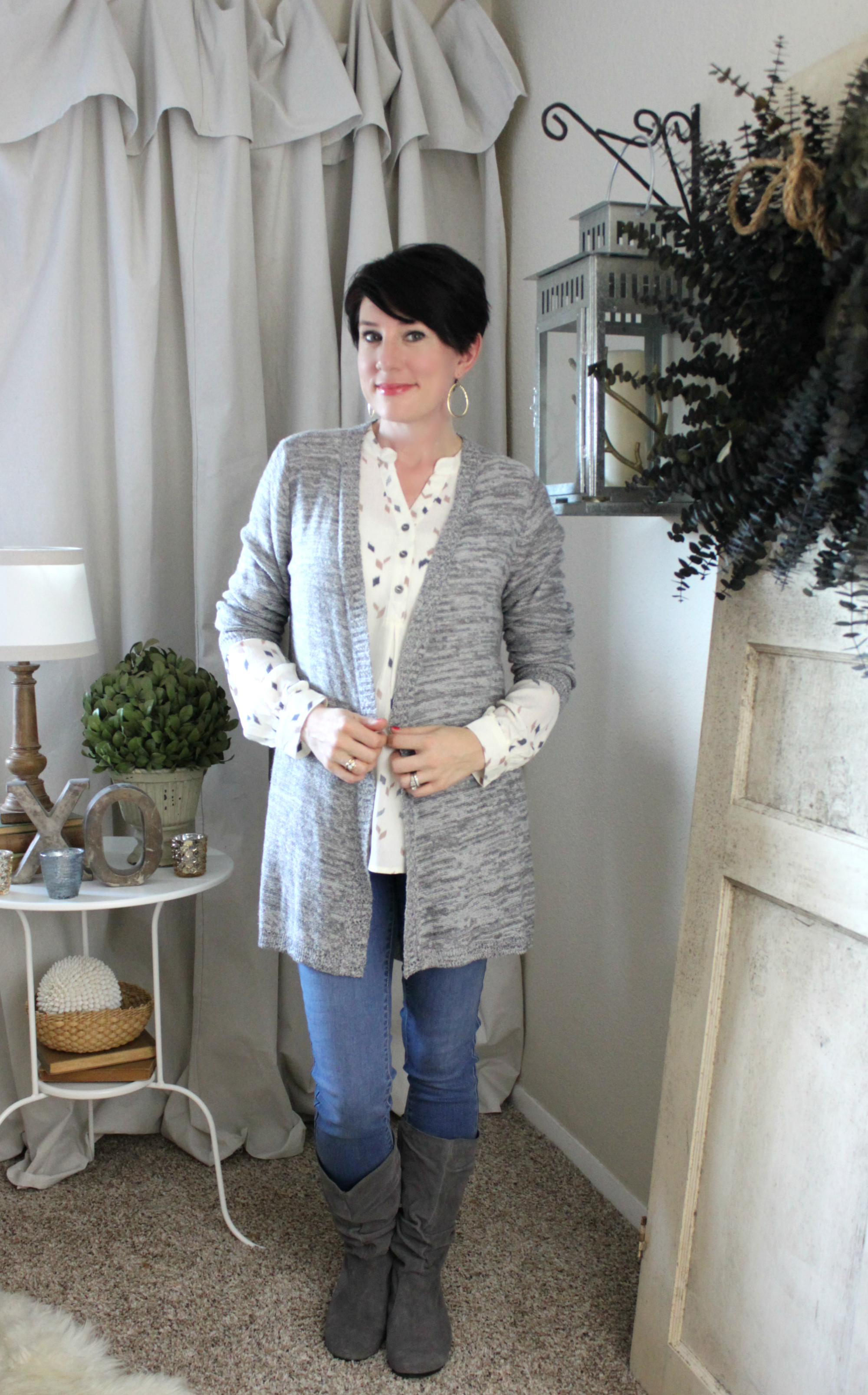 Sunday Style: Chic in Ivory + Gray, Oh My!