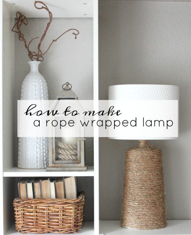 how to make a rope wrapped lamp by An Inspired Nest