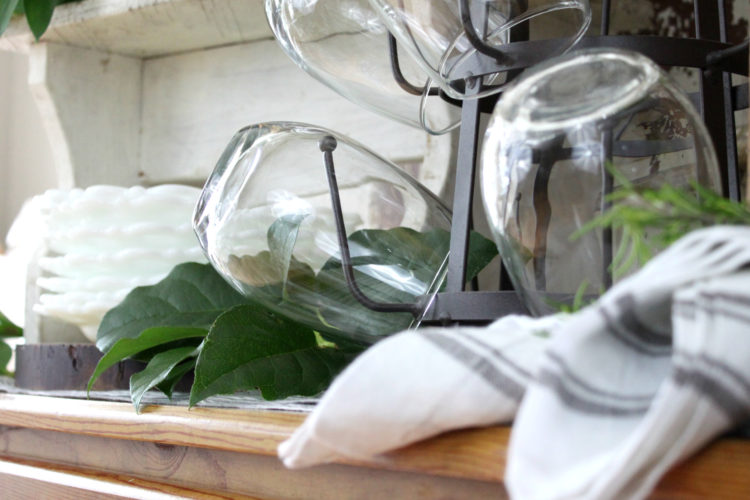 Simple Entertaining Tip: From Bottle Rack to Wine Glass Rack